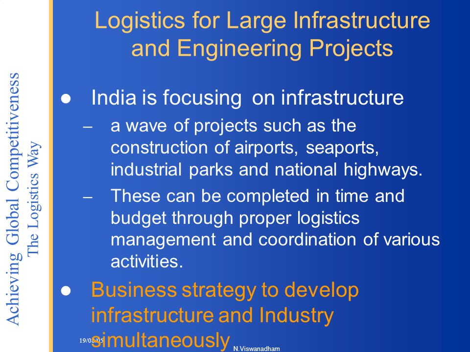 Logistics for Large Infrastructure and Engineering Projects