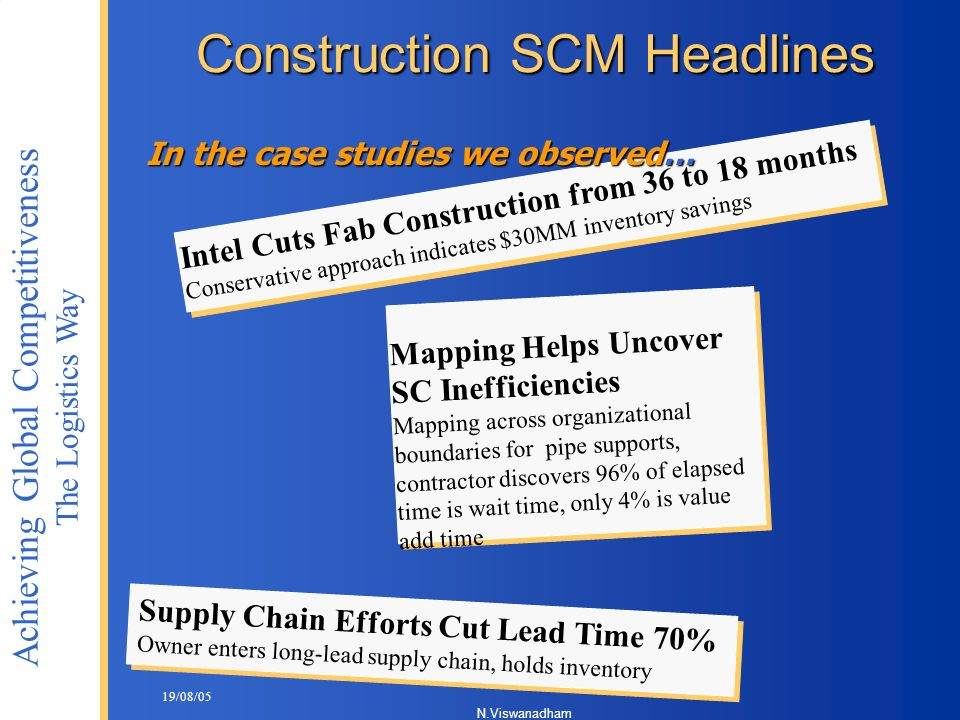 Construction SCM Headlines