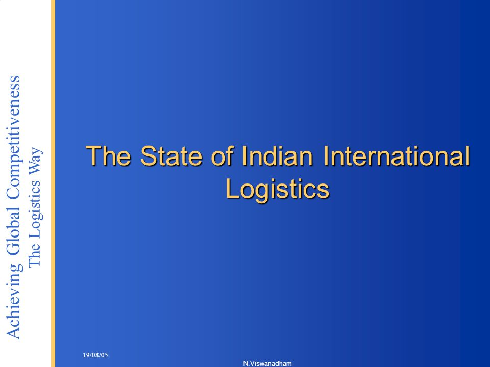 The State of Indian International Logistics