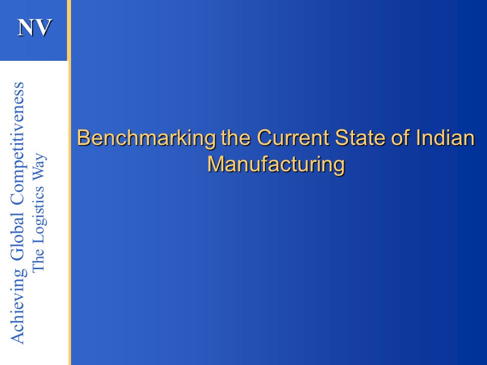 Benchmarking the Current State of Indian Manufacturing