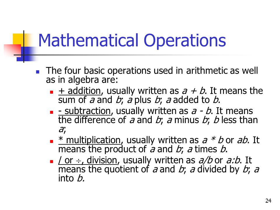 Mathematical Operations