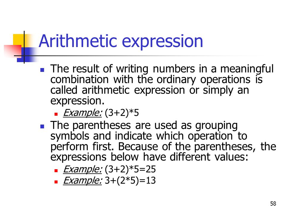 Arithmetic expression