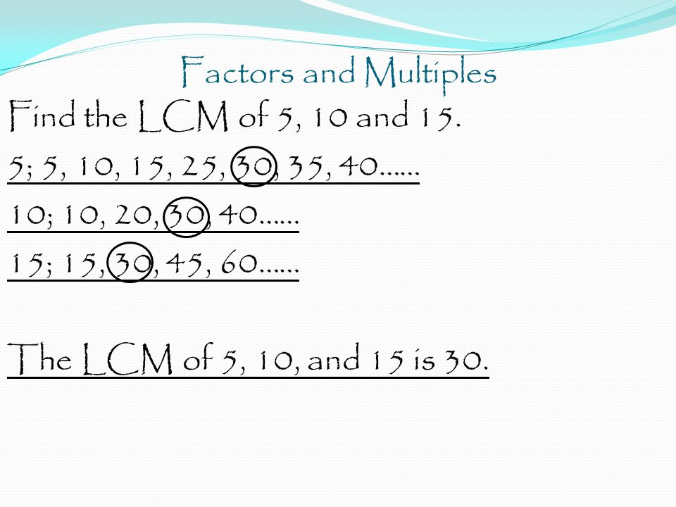 how to find the factors of 45