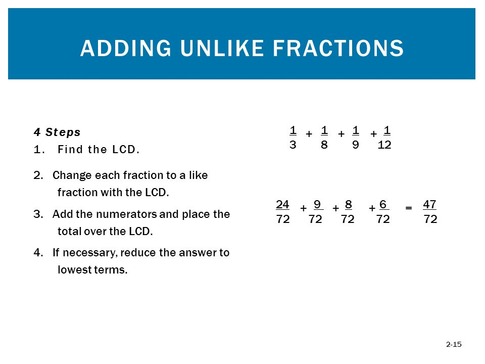 how to find the lcd of a fraction