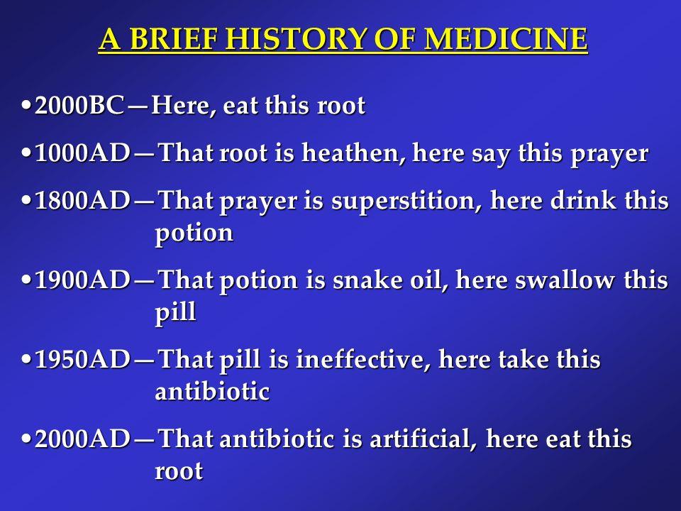 A BRIEF HISTORY OF MEDICINE