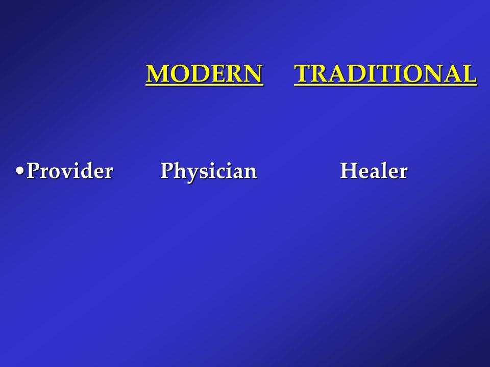 MODERN TRADITIONAL Provider Physician Healer