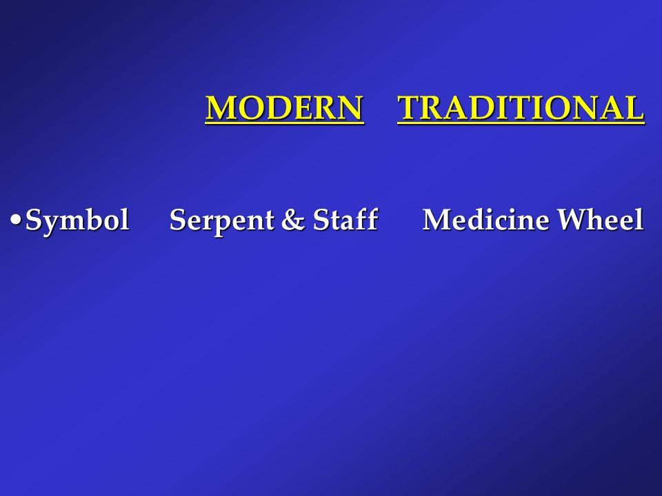 MODERN TRADITIONAL Symbol Serpent & Staff Medicine Wheel