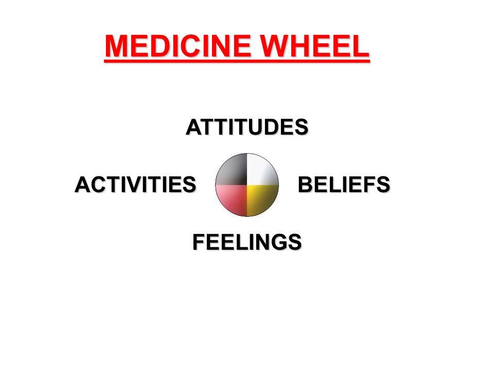 MEDICINE WHEEL ATTITUDES ACTIVITIES BELIEFS FEELINGS