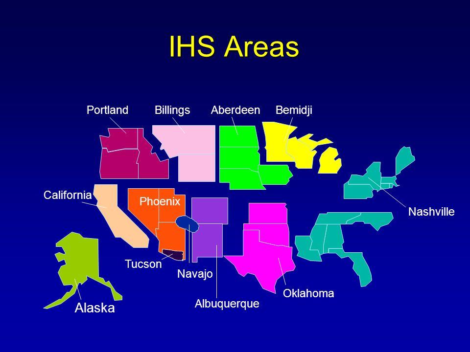 IHS Areas Alaska Albuquerque Portland Billings California Phoenix