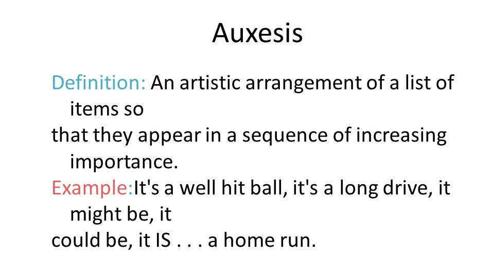 Examples Of Diction In Literature Auxesis Definition: An...
