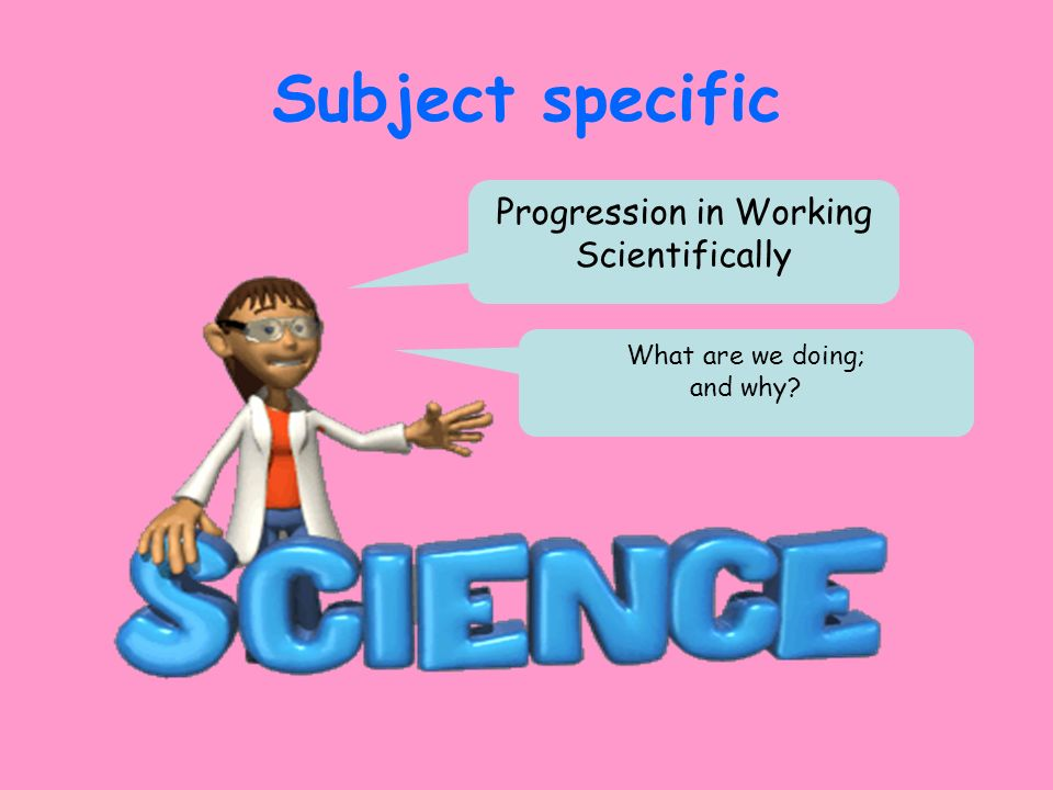 Progression in Working Scientifically