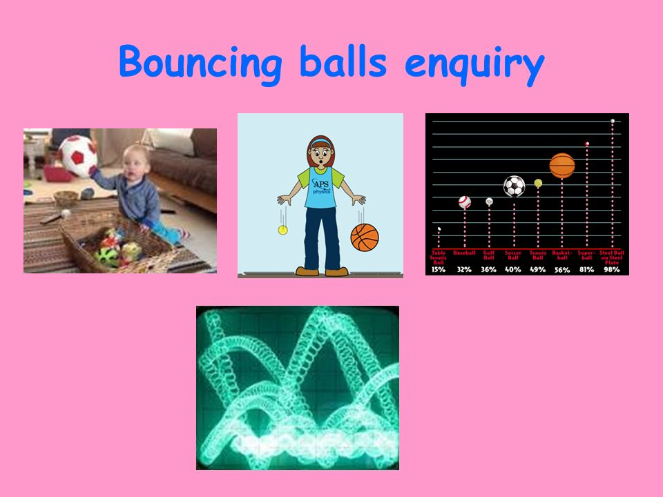 Bouncing balls enquiry