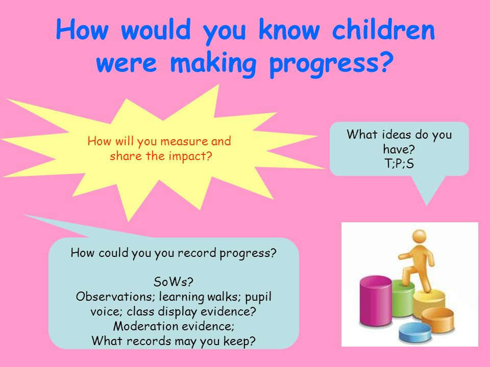 How would you know children were making progress
