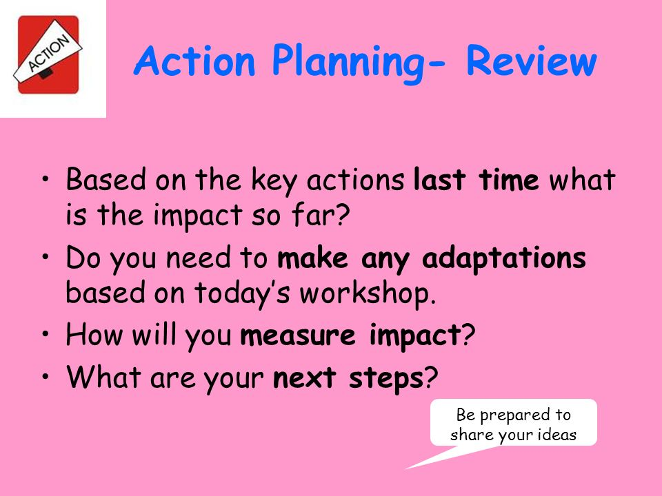 Action Planning- Review