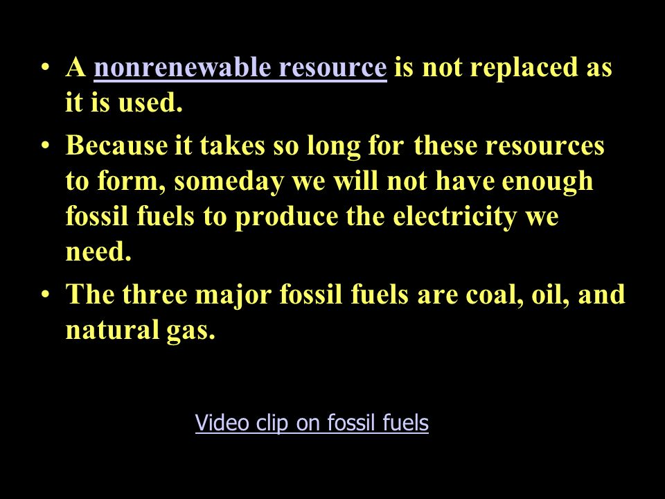 16.2 Electricity from fossil fuels