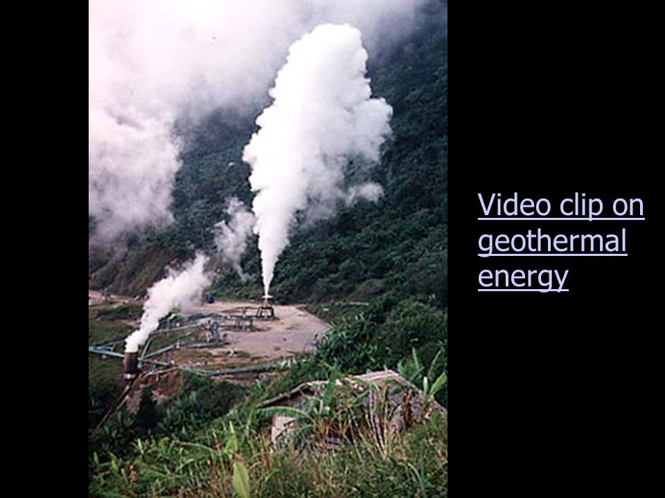 Video clip on geothermal energy