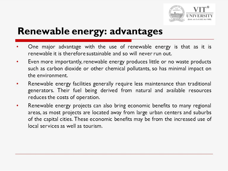 benefits of renewable energy The available options for cost-effective renewable energy are increasing   already, many individual homeowners are realizing the benefits of.