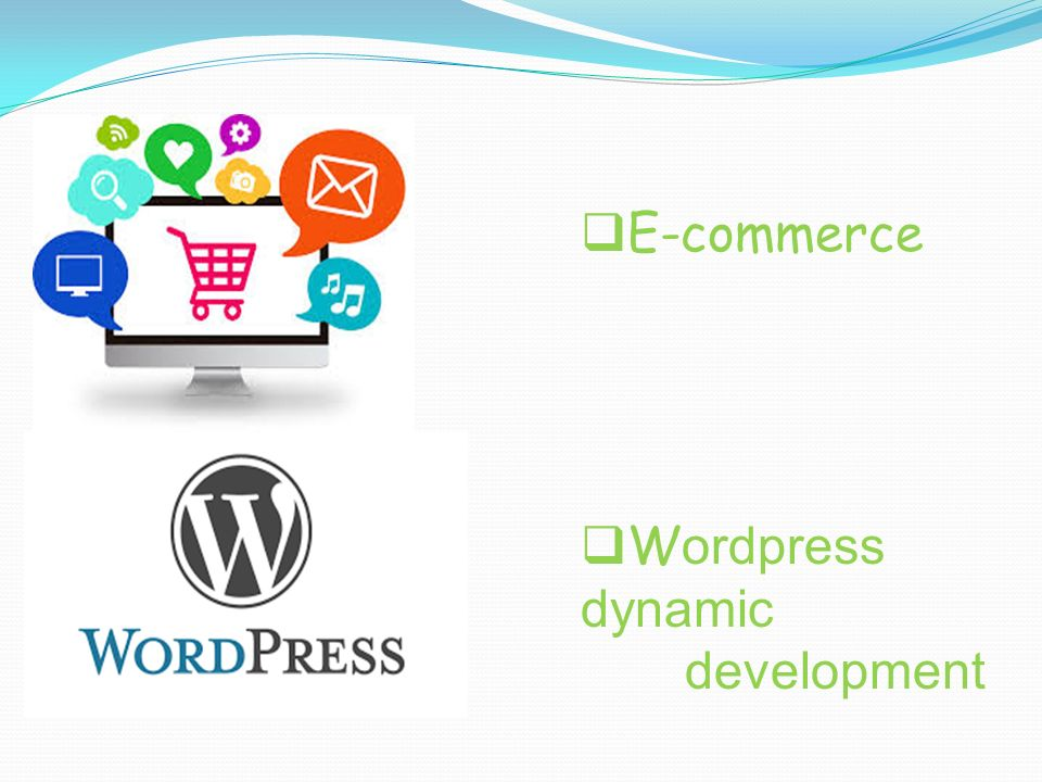E-commerce Wordpress dynamic development