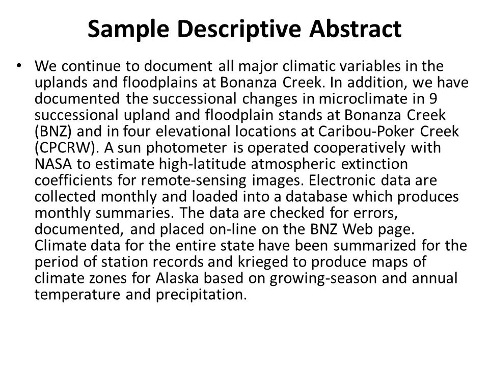 Informative and descriptive Abstracts - ppt video online download