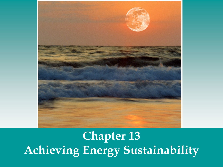 Achieving Energy Sustainability