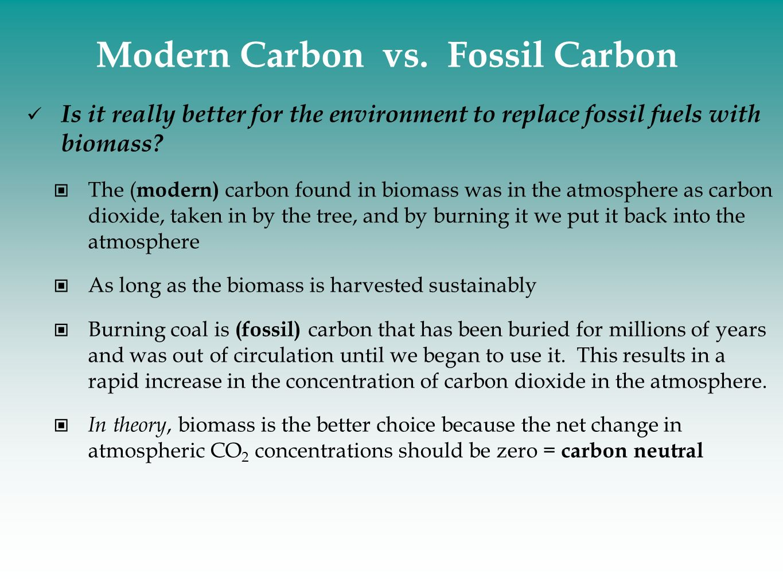 Modern Carbon vs. Fossil Carbon