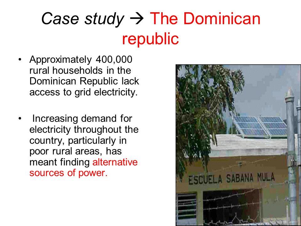 Case study  The Dominican republic