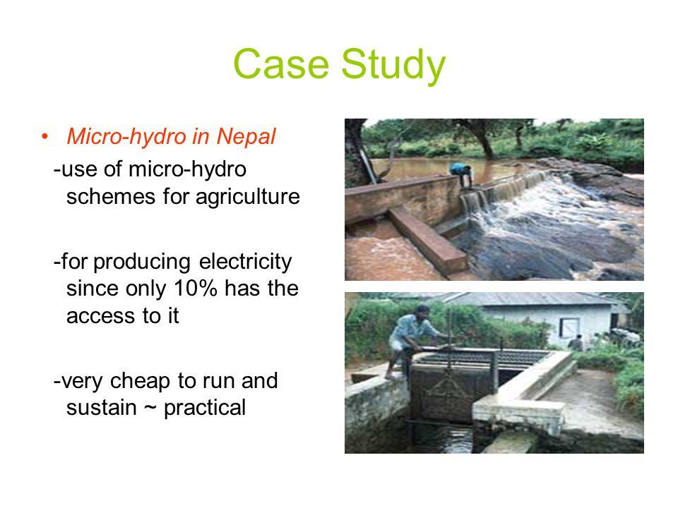 Case Study Micro-hydro in Nepal