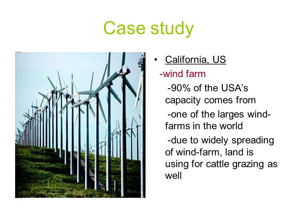 Case study California, US -wind farm