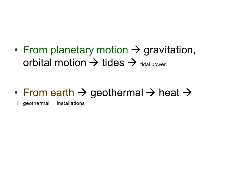 From earth  geothermal  heat 