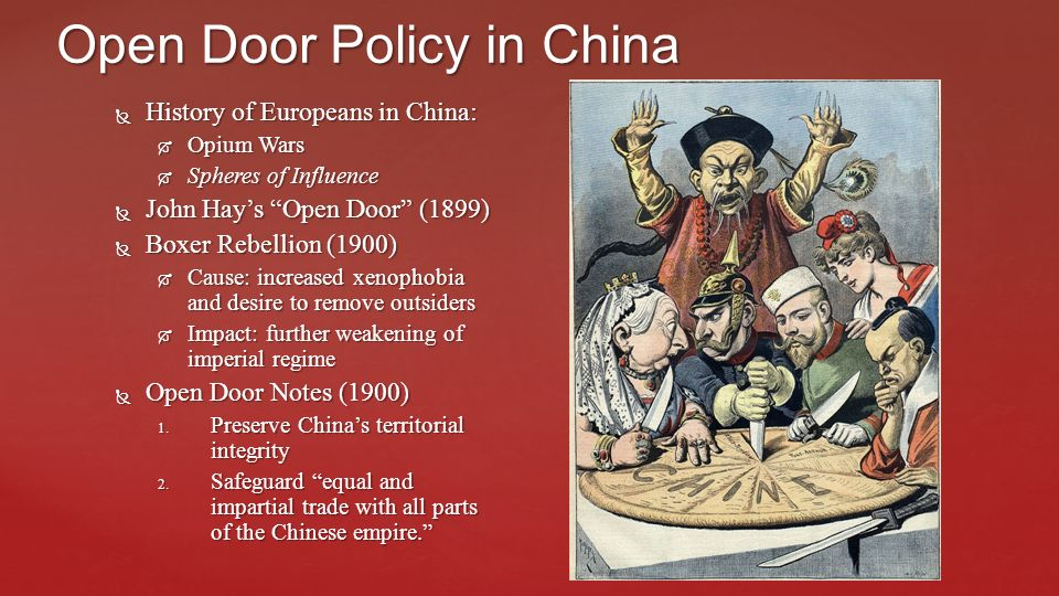 the objectives and impact of the us open door policy Germany creaks under strain of open door policy after the initial euphoria merkel's decision last month to open the doors and i appeal for us not to reject it.