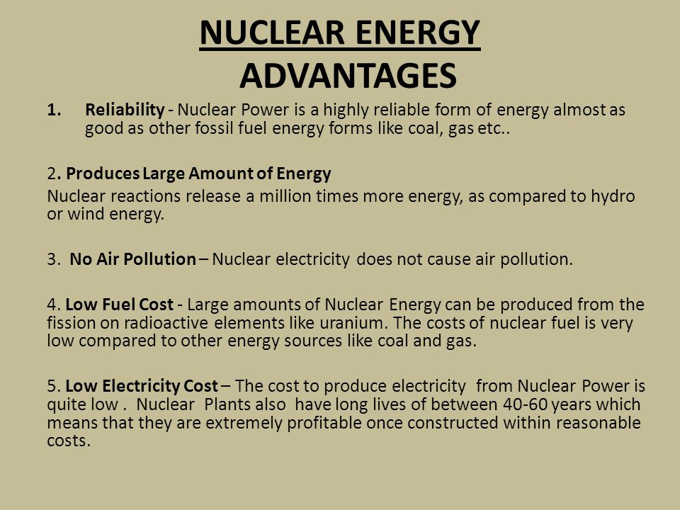The Advantages of Having Nuclear Power Plants