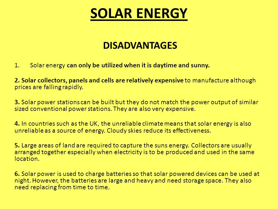 Disadvantages Of Solar Energy Related Keywords Suggestions