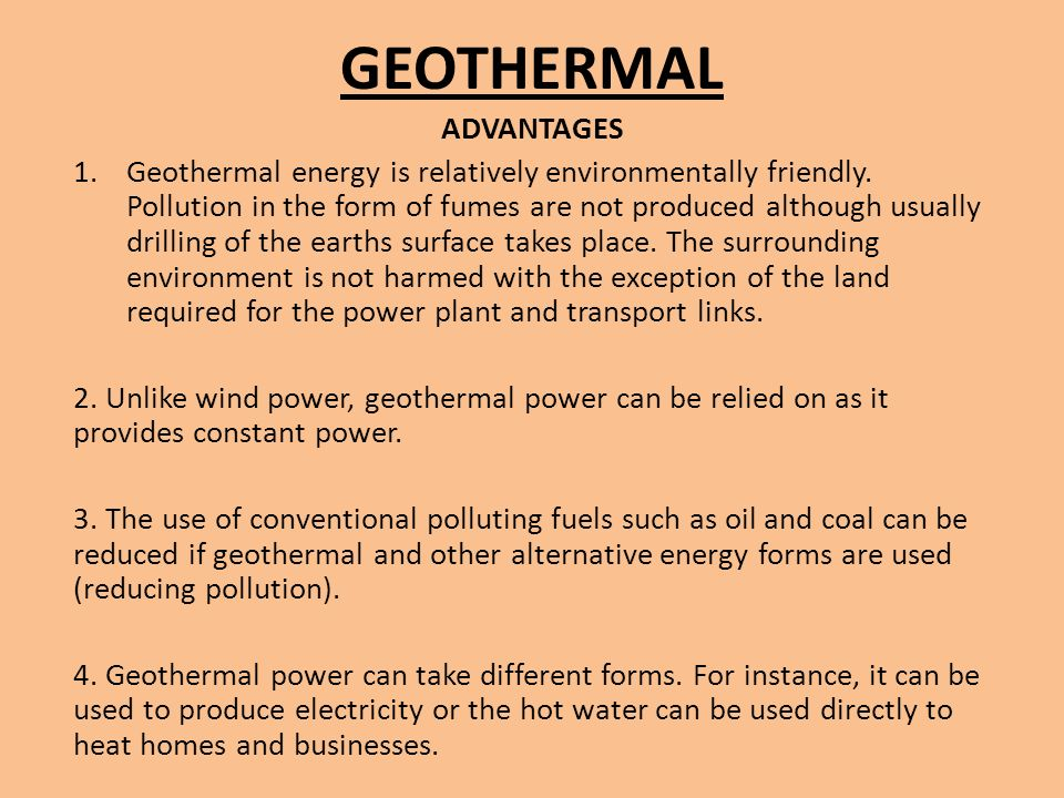 The Green Guide: Advantages and Disadvantages of Geothermal Energy