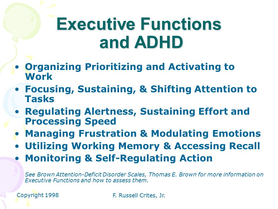 The Important Role of Executive Functioning and