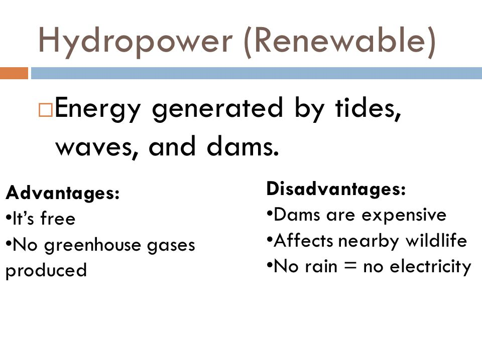 Hydropower (Renewable)