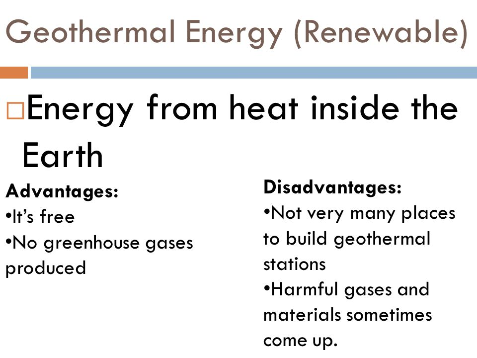 Geothermal Energy (Renewable)