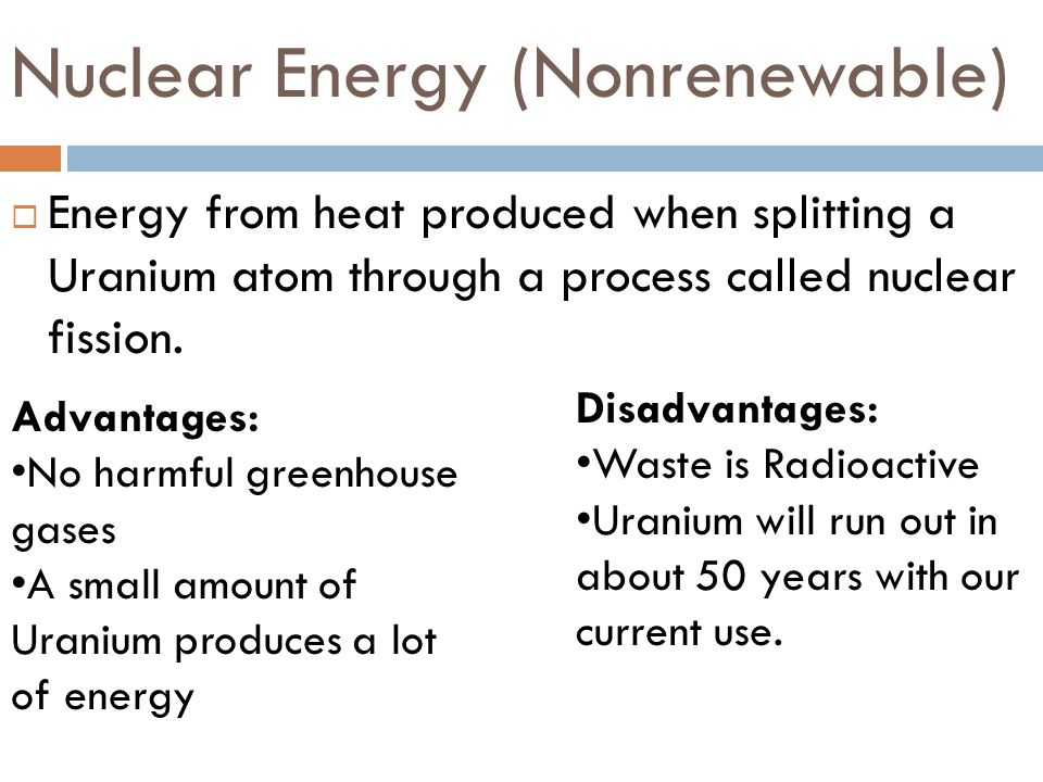 Nuclear Energy (Nonrenewable)