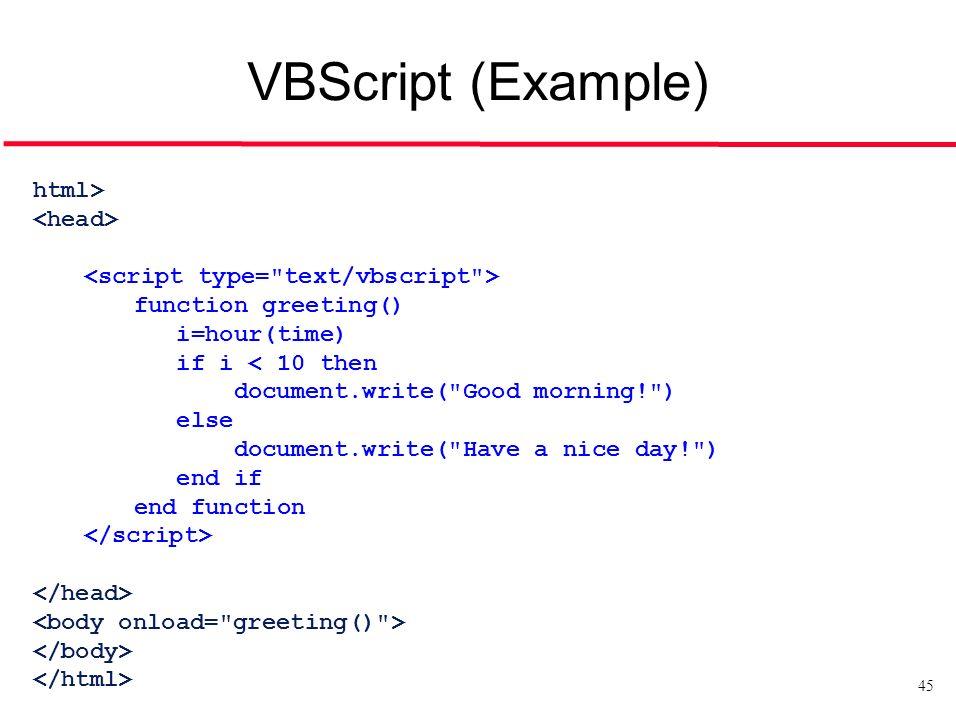 vbscript form example