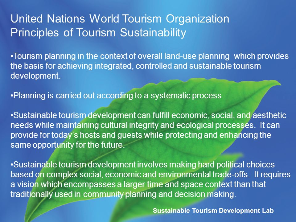 an article on the importance of tourism to a developing nation