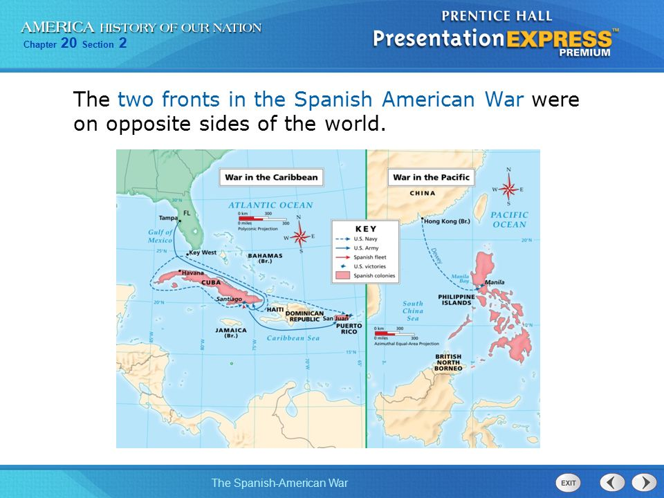 Objectives describe how americans reacted to the revolt in cuba 11 the two fronts in the spanish american war were on opposite sides of the world gumiabroncs Gallery