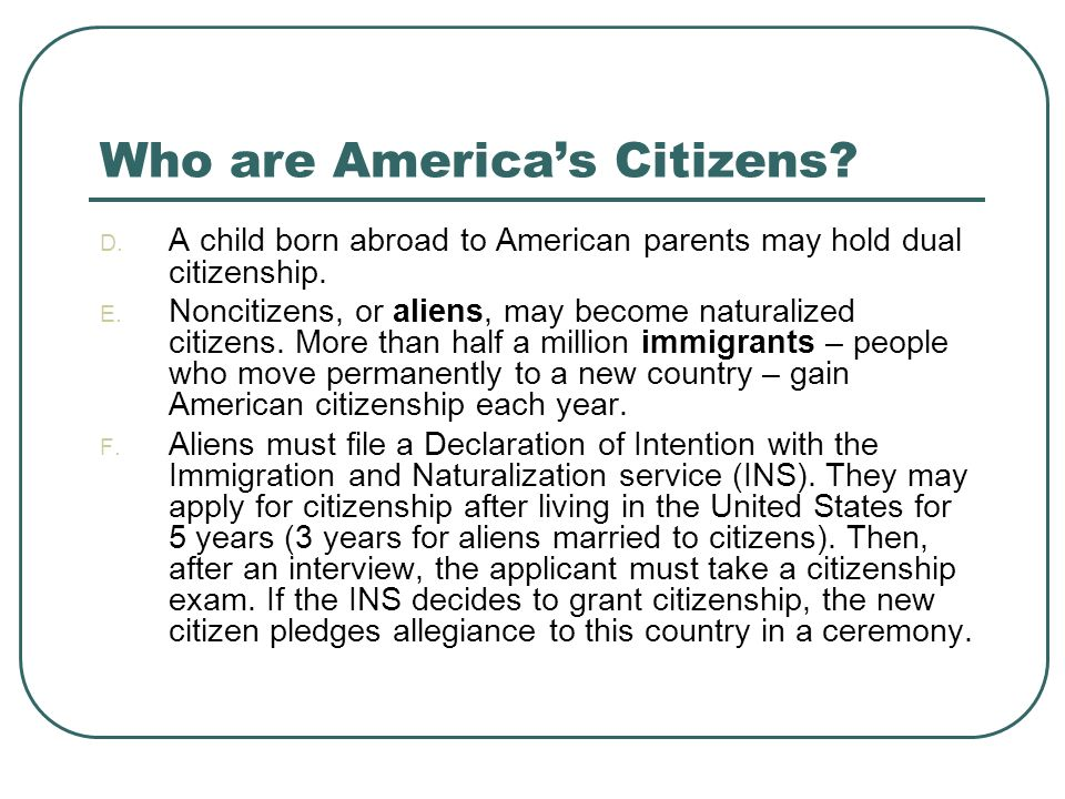 Who are America's Citizens
