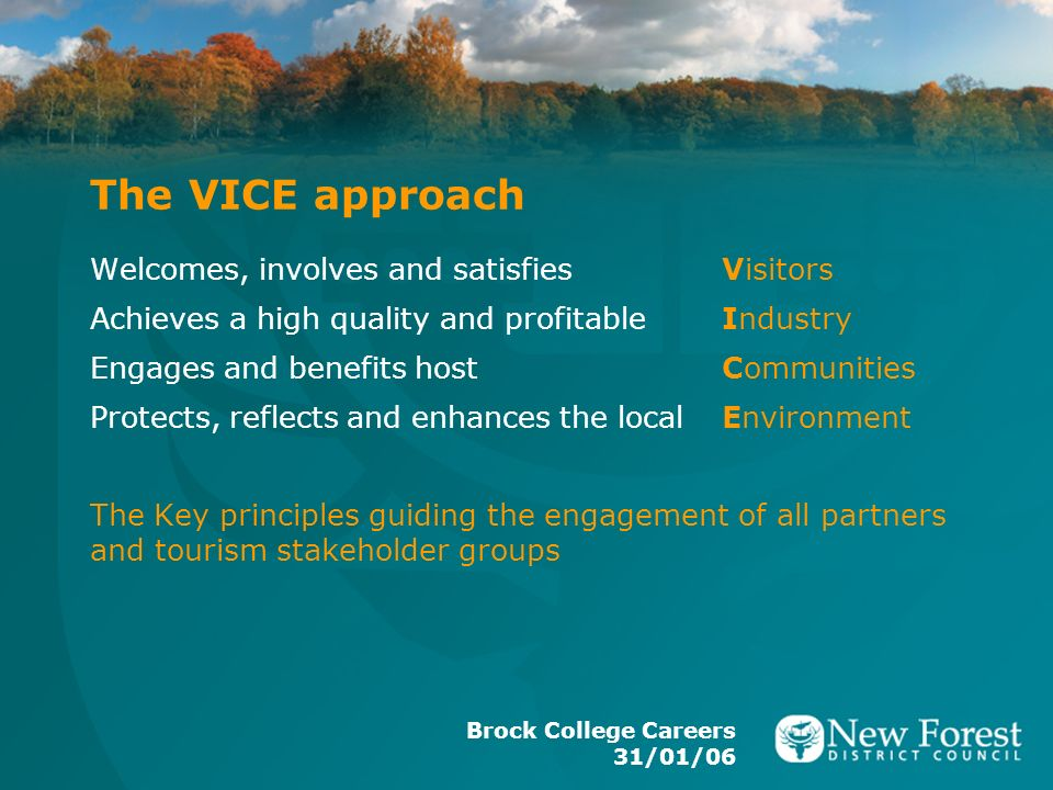 The VICE approach Welcomes, involves and satisfies Visitors