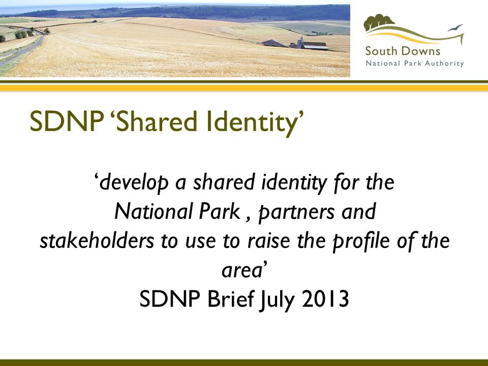 SDNP 'Shared Identity'