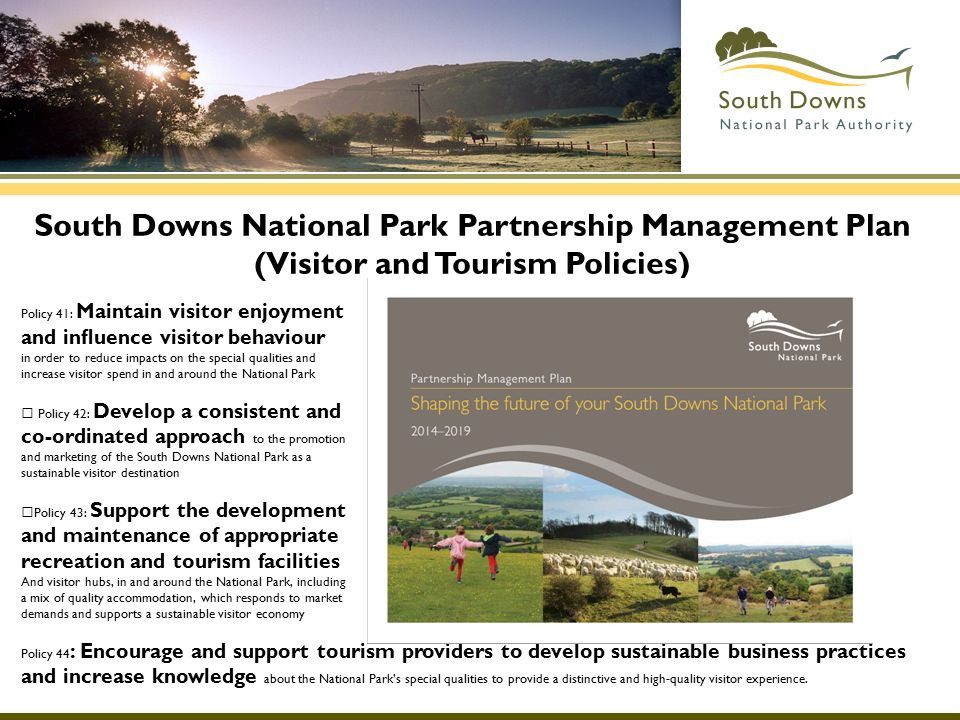 South Downs National Park Partnership Management Plan (Visitor and Tourism Policies)