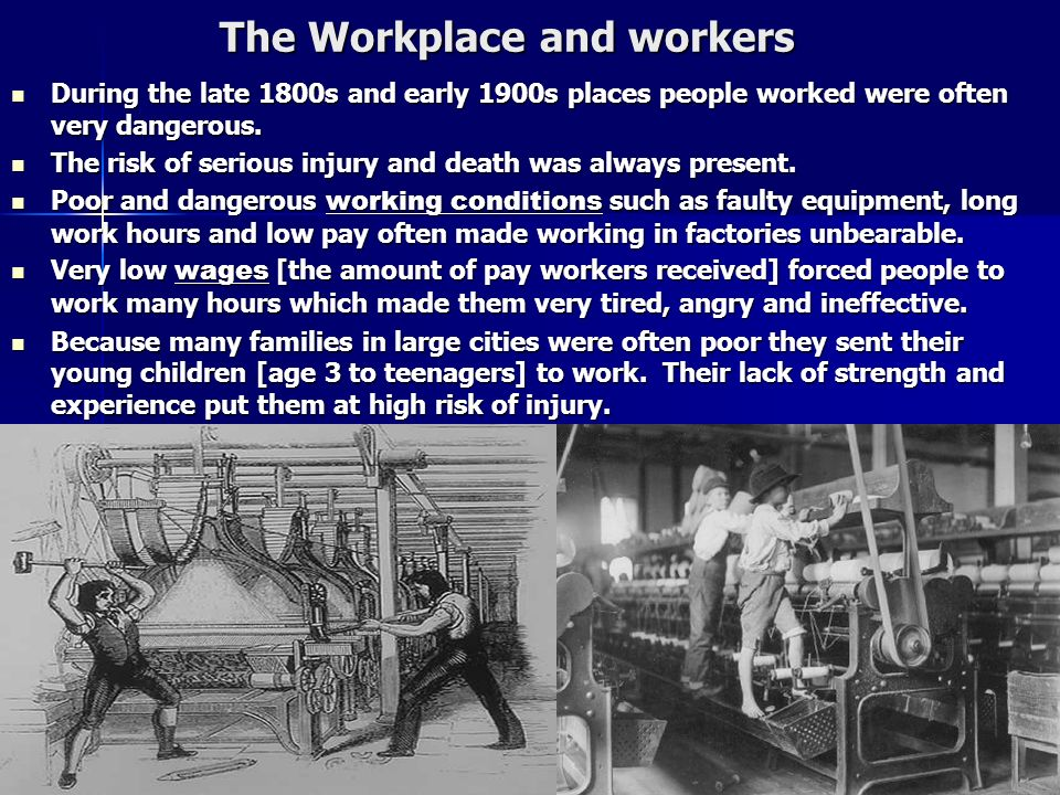 The Workplace and workers