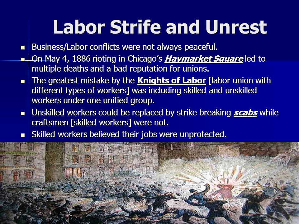 Labor Strife and Unrest