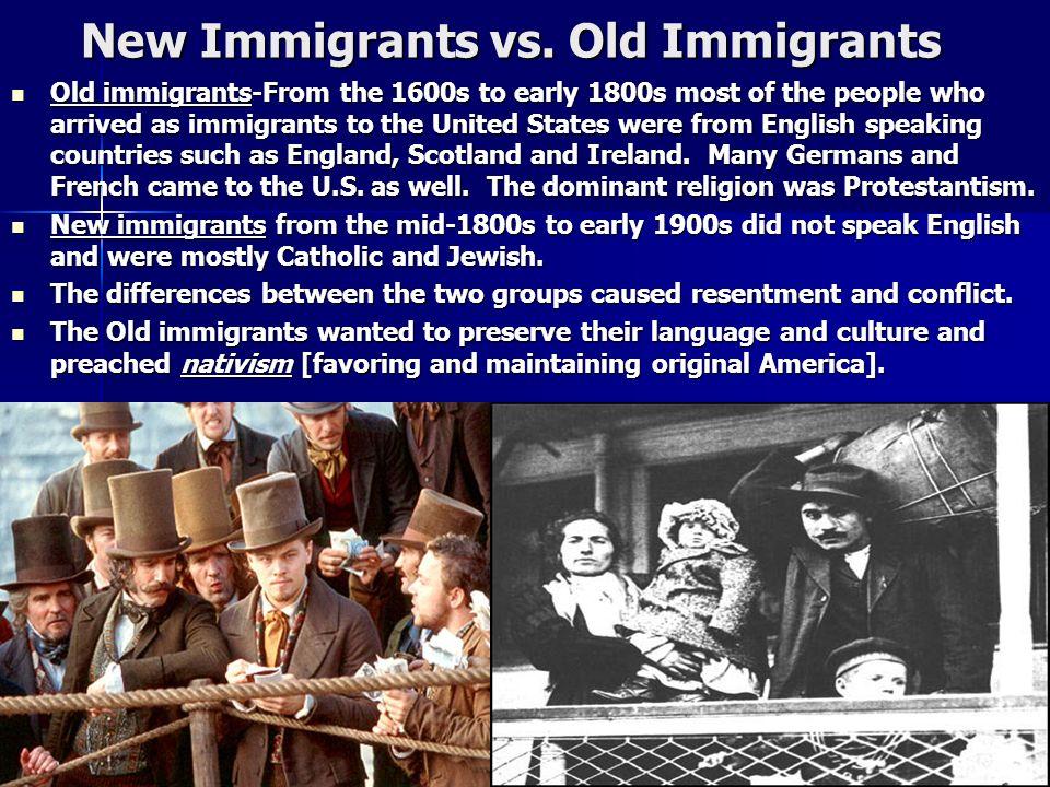 New Immigrants vs. Old Immigrants