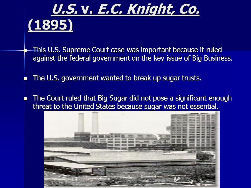 U.S. v. E.C. Knight, Co. (1895)