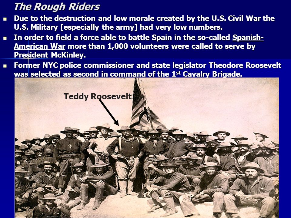 The Rough Riders Teddy Roosevelt