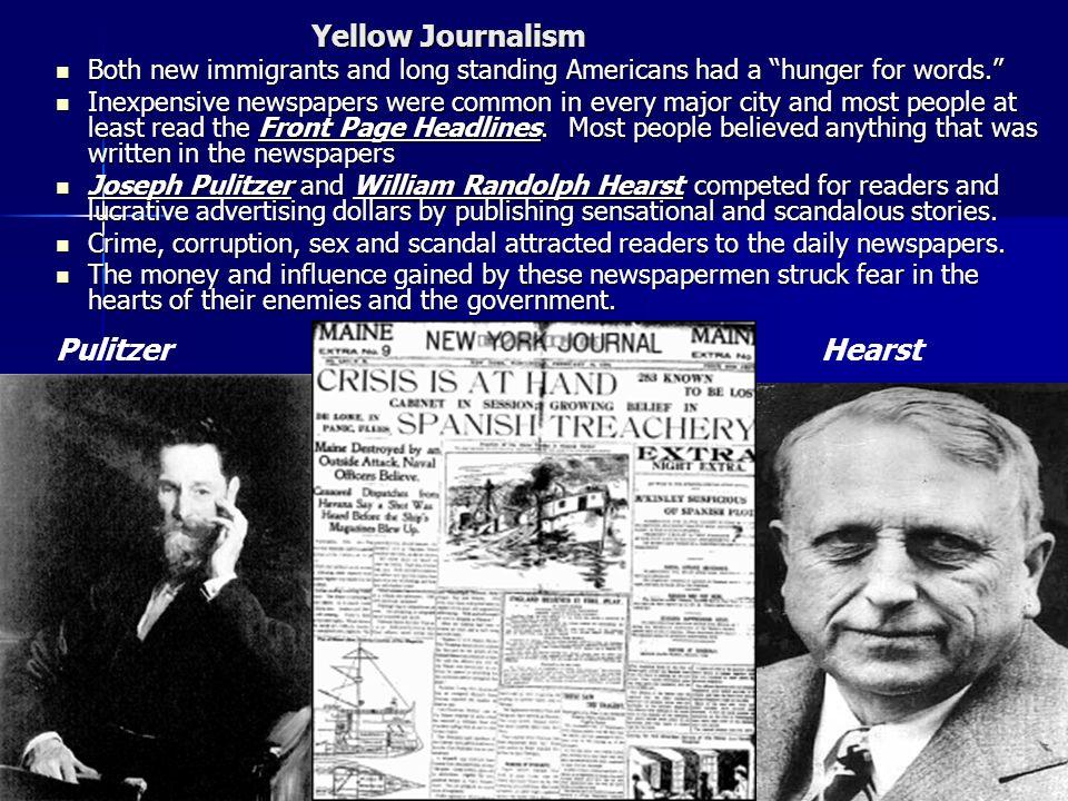 Pulitzer Hearst Yellow Journalism